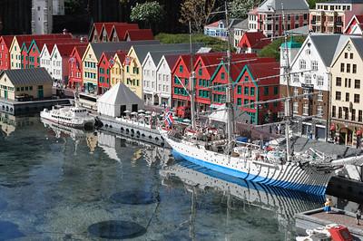 Der Hafen von Bergen war auch aus Lego gebaut. Sieht wirklich orginal aus.