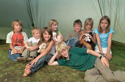 In unserem Zelt hätten locker alle Kinder Platz zum Schlafen gehabt!