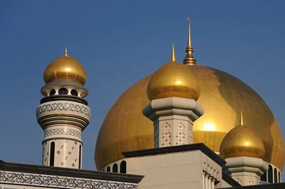 Ein Besuch bei den Moscheen war Pflicht. Hier die Omar Ali Saifuddien Moschee. Wirklich eindrucksvoll. Sie wurde 1958 gebaut und nach dem 28. Sultan Bruneis benannt.