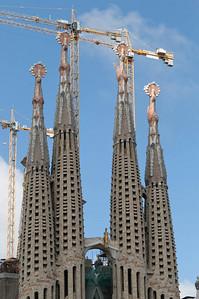 """Die meiste Zeit habe ich natürlich auf der Tagung verbracht. Aber es blieb auch ein wenig Zeit für Sightseeing. Hier die Basilika """"La Sagrada  Familia"""" von dem Architekten Antoni Gaudi."""