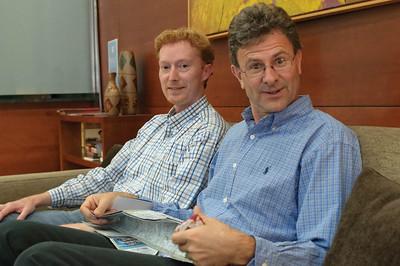 Meine Kollegen Christopher und Torbjørn.