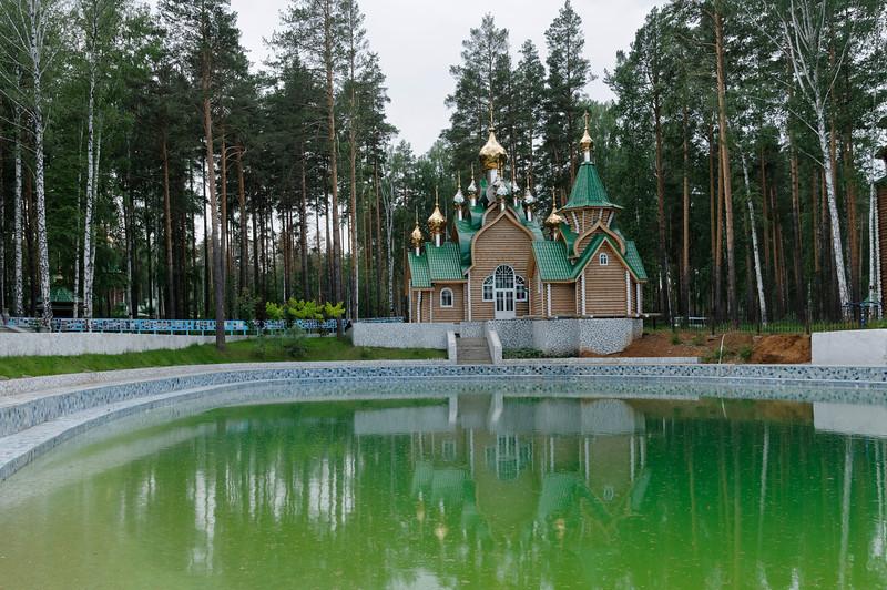 Das Kloster Ganina Jama, erbaut am Ort wo die Leichen der 1918 ermordeten Zarenfamilie 1979 gefunden wurden.