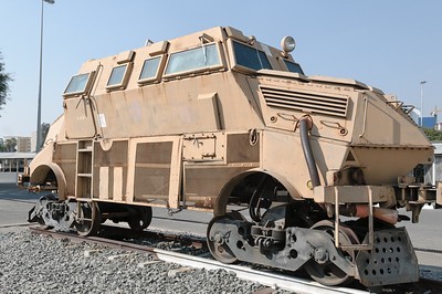 Ein Panzer auf Schienen. Gute Idee, wurde aber nie eingesetzt.