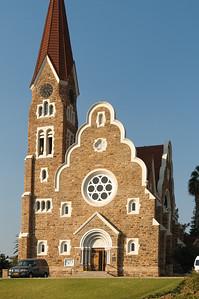 Die Christuskirche in Windhoek. Von deutschen Protestanten Anfang des 20. Jahrhunderts gebaut.
