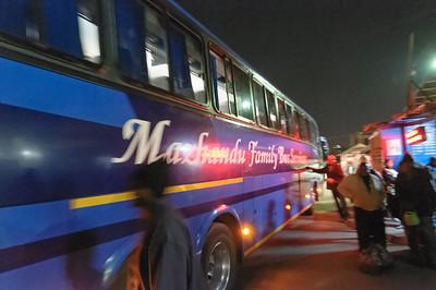 Endlich kam unser Bus für die Weiterfahrt.