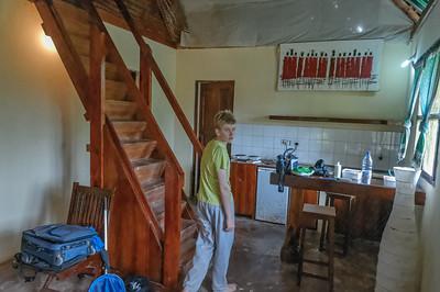 In unserer Familienhütte im Pakachi Beach Resort hätte man locker zwei Familien unterbringen können.