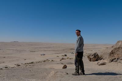 Sieht vielleicht langweilig aus, aber die Fahrt durch die Wüste Namib war schön!
