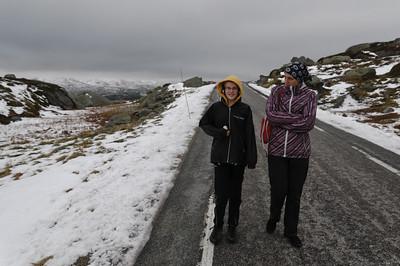 Der Pass ins Setesdal ist etwa 1000m hoch. Hier gab es schon den ersten Schnee. Bald wird er für den Winter geschlossen.