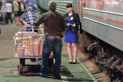 Hier kommt Versorgung für den Zug.