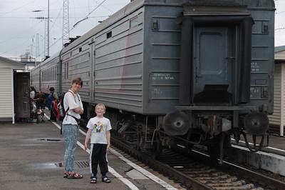Unsere Lokomotive hat abgekoppelt.