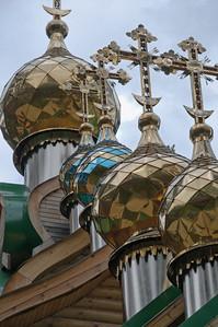 Jedem der 7 getöteten Mitglieder der Zarenfamilie ist eine Kirche gewidmet.