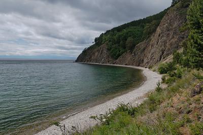 An diesem Strand haben wir eine Pause gemacht.
