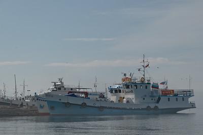 Ein Ausflugsboot am Baikalsee.