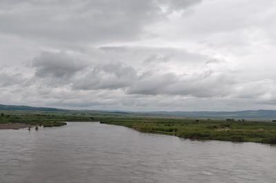 So sieht die Landschaft kurz vor der mongolischen Grenze aus.