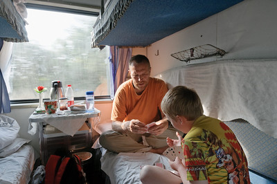 Kartenspielen war Richards Lieblingsbeschäftigung. Wir spielten meistens Mau Mau und haben das sogar einem Chinesen beigebracht.