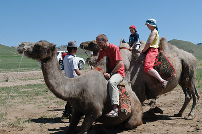 Wir sind zum Glück nur ein paar Meter auf den Kamelen geritten.
