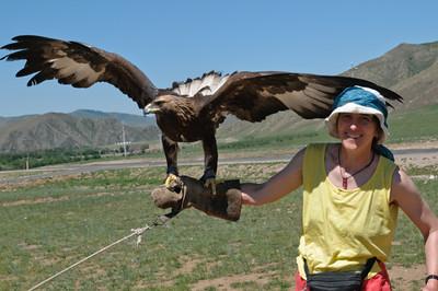 Der Adler war schwer, 6 Kilo.