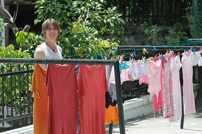 Nach 3 Wochen Transsib mussten wir dringend Wäsche waschen.