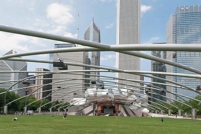 Die grosse B]uhne im Millennium Park.