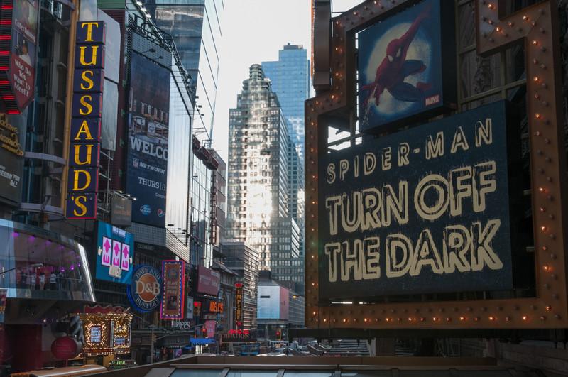 Am Abend haben wir dann noch ein Broadway Musical angeschaut: Spiderman. Die Flugeinlagen waren wirklich toll!