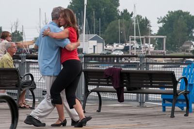 In Buffalo war es am Abend ganz schön ruhig. Nur am Pier war etwas Leben.