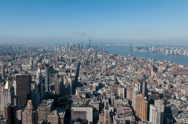Tolle Aussicht vom 86. Stock des Empire State Building.