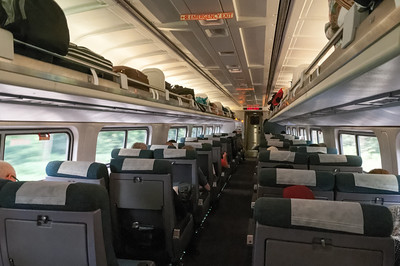 Die Züge sind so bequem wie die Business Clas im Flugzeug. Gut genug für eine Nacht.