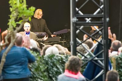 Und dann trat Elton John auf! Reiner Zufall und nicht geplant.