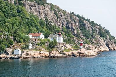Die Hafenausfahrt von Kristiansand. Jetzt geht der Urlaub los!