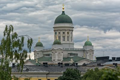 Die protestantische Kirche von Helsinki.