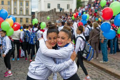 In Helsinki findet in dieser Woche die Gymnastrada statt. Hier geht es um Breiten- und nicht um Spitzensport. Die Stimmung war toll.