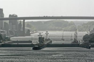 Und hier die Einfahrt zum Nord-Ostsee Kanal.