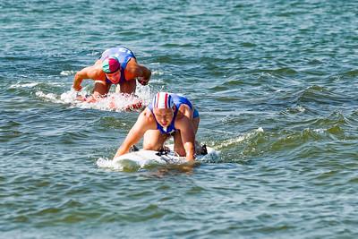 In Warnemünde gab es einen internationalen Wettkampf der Rettungsschwimmer der DLRG.