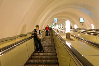 Die Metro in St. Petersburg ist sehenswert.