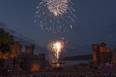 Zum Abschluss gab es dann noch ein Feuerwerk. War wirklich sehenswert!