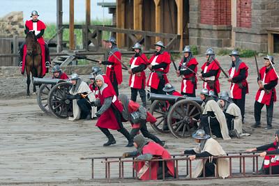 Die Dänen belagern die Festung.