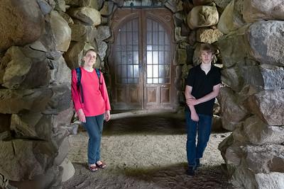 Eine Grotte am Schloss.