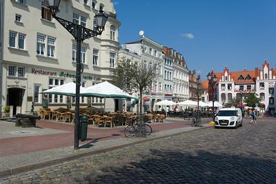 Der Marktplatz ist der grösste in Norddeutschland.