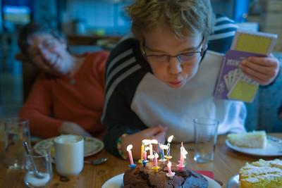 Oskar hatte am Abend vorher noch einen Kuchen gebacken.