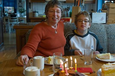 Wieder zu Hause haben wir mit Moni und Paul noch Richards Geburtstag gefeiert.