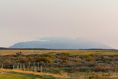 Am Morgen hatten wir von unserem Hostel in den Bergen beim Gullfoss eine tolle Aussicht.