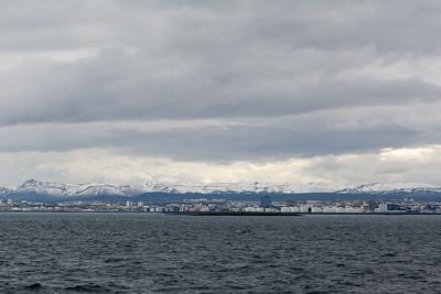 Reykjavik vom Wasser.
