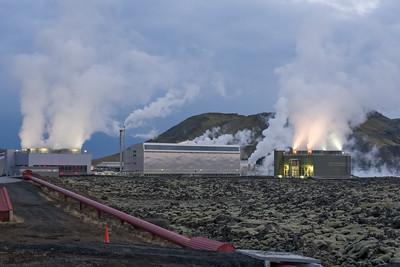 Ein Wärmekraftwerk.