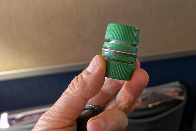 So klein ist der Gewürzbehälter. Sehr praktisch, wenn man nicht viel mitnehmen kann.