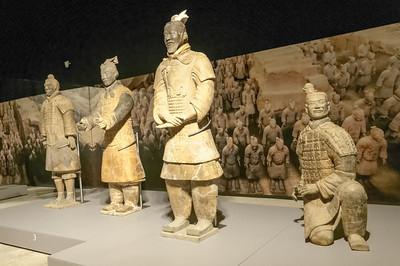 Und dann haben wir noch alte Bekannte wiedergetroffen, eine Ausstellung von Terrakottasoldaten aus China.