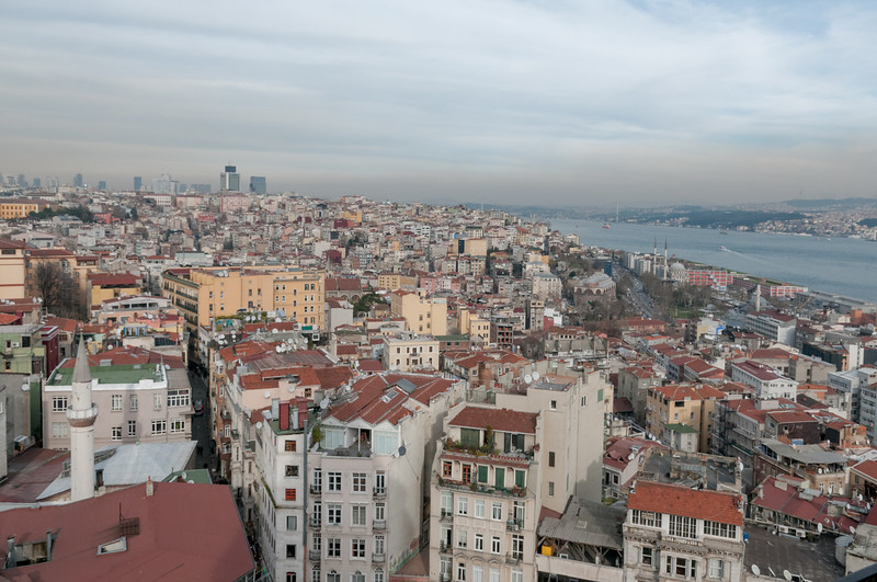 Der Bosporus. Links Europa, rechts Asien.