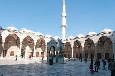 In der Blauen Moschee.