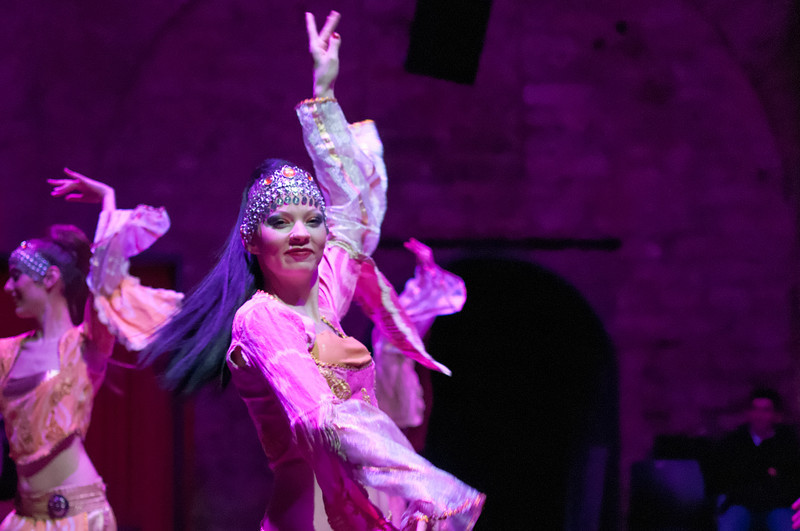 Am Abend haben wir uns eine orientalische Tanzvorstellung angeschaut.