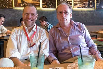 Das war der eigentliche Anlass der Reise. Nico, ein Kollege aus Brunei, feiert nach über 35  (!) Jahren seinen Abschied von Shell.