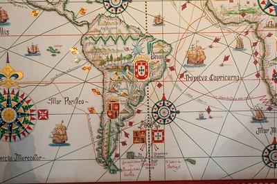 """Hier sieht man die Grenze. Alles östlich von der Linie """"gehörte"""" Portugal."""